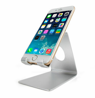 Silver Metal Desktop Phone Stand for iPhone And Smart Phones