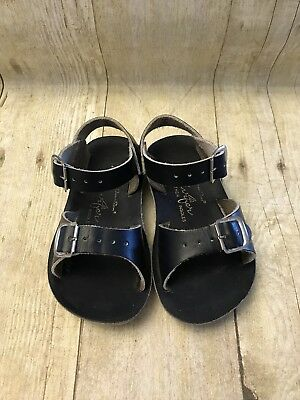 b6fd88172 HOY SHOES SUN San Size 10 Little Kids Salt Water Sandals Silver ...