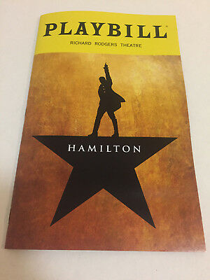 Hamilton Playbill Theater Book New York City Nyc Broadway October 2018