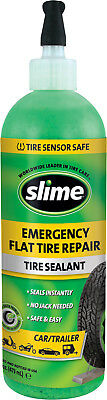 Slime EMERGENCY TIRE SEALANT 16 oz PREVENT & REPAIRS FLAT TIRES SEALS INSTANTLY