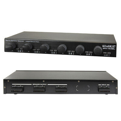 6-Way Dual-Source Speaker Selector with Zone Volume Controls 900W (SPA-160SEL)