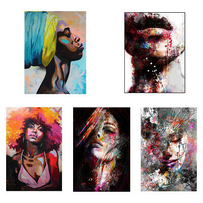 EP_ Watercolor Woman Canvas Wall Art Painting Poster Unframed Home Decor Welcome