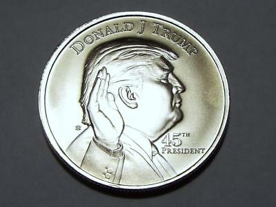 Donald Trump 45th President .999 Solid Silver One Troy Ounce Collectible Coin
