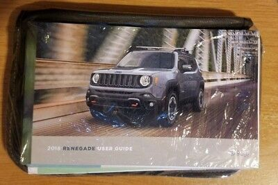 2018 JEEP RENEGADE Owners Manual with Case  BRAND NEW Still SEALED OEM
