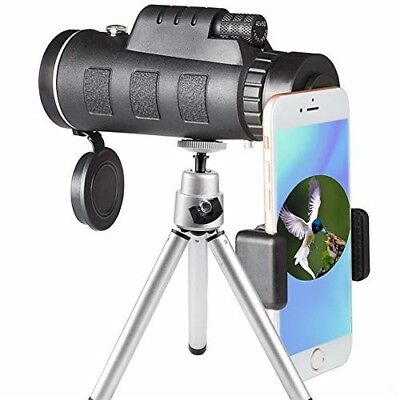 Monocular Telescope, 40x60 High Powered Monocular with Smartphone Adapter n Trip