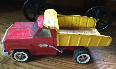Vintage 1960's Tonka Red Yellow Pressed Steel Dump Truck #13190