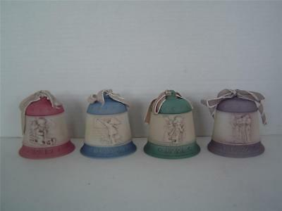 4 M J HUMMEL CHRISTMAS BELLS Series 1 Goebel Collectors Club 1989-1992 Ornaments