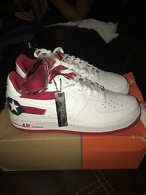 best cheap bd1a7 39676 DS 2006 Nike Air Force 1 Puerto Rico 7 (PR7) White Obsidian Varsity Red