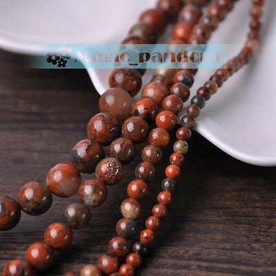 4mm 6mm 8mm 10mm Natural Stone Gemstone Round Spacer Loose Red Beads Wholesale