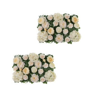 2x Artificiale Rose Penoy Flower Wall Panel Wedding Venue Decor Champagne