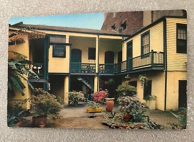 "vintage postcard ""Adelina Patti's Courtyard"" New Orleans Louisiana post card"