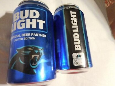 2018 Carolina PANTHERS Bud light beer can NFL kickoff bottom OPENED No Beer