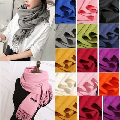 Cashmere Wool Scarf Shawl Fleece Solid Color Autumn and Winter Soft Warm Scarf