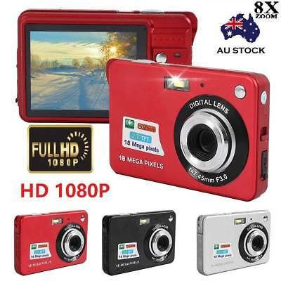 "Full 1080P HD 2.7"" Digital Camera 18MP 8x Zoom Dive Camera Video Recoding DVR AU"