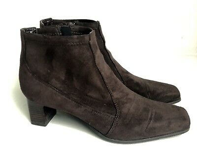 dbcc24d341d Franco Sarto Women s 8.5 M Brown Suede Ankle Boots Square Toe 2