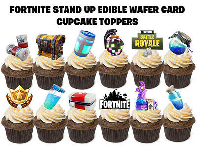 12 FORTNITE STAND UP Edible Birthday Cupcakes Cup Cake Cake Toppers Images SET 2