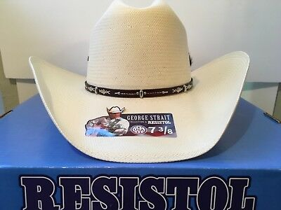 2e242be2 RESISTOL GEORGE STRAIT Collection. Hazer. Straw Cowboy Hat. 10X, Size 7 3/8