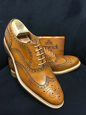 Berwick 1707 Scarpa in pelle Oxford Cognac Goodyear Welted Welted Gr:39 - 46