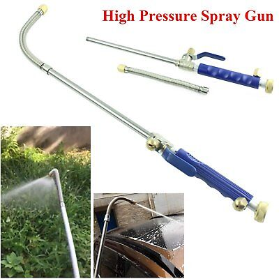 High Pressure Power Washer Spray Gun Water Hose Wand Attachment Jet/Fan Nozzle