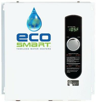 Electric Tankless Water Heater EcoSmart 24 kW Self-Modulating 4.6 GPM
