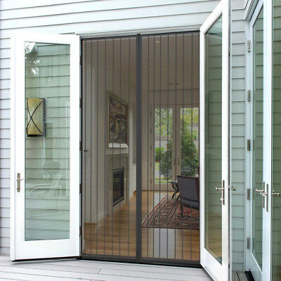 Magic Mesh Magnetic Screen Door Hands-Free Curtain For Pet Stop Bug Mosquito Fly