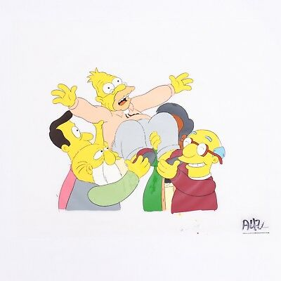 The Simpsons Original Production Animation Cel 'Marge vs. the Monorail' (S4 E12)