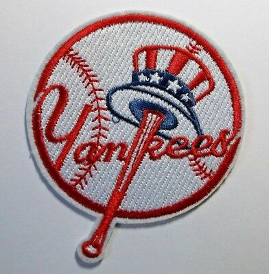 """New York Yankees NY Embroidered PATCH~3 3/4"""" x 3 1/4""""~Iron On~MLB~FREE US Mail"""