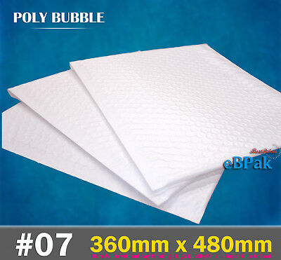 Top Quality Poly Bubble Mailer #07 360x480mm Plastic Padded Bag Envelope
