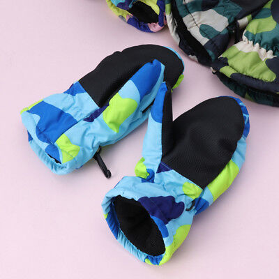 Delicate Winter Waterproof Warm Mittens Boy Kids Children Outdoor Skiing Gloves