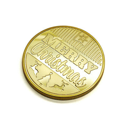 Merry Christmas Santa Claus Commemorative Coin New Year Souvenir Gift Healthy