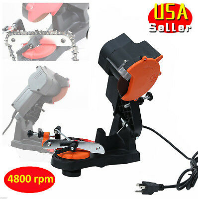 New Electric Chainsaw Chain Saw Sharpener Grinder 4200RPM Wall Mount Tool US