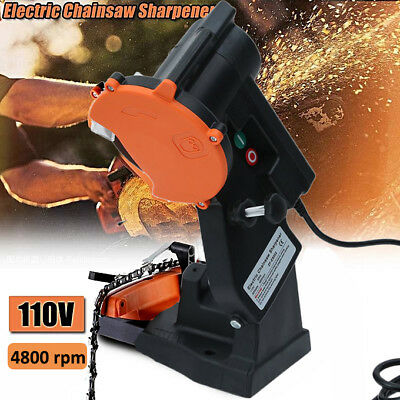 Electric Power Chain Saw Sharpener 4200RPM Bench Wall Mount Grinder Wheel Tool