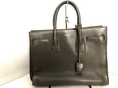 6b71d0d2f4d Auth SAINT LAURENT PARIS Sac De Jour Mini 324823 Khaki Leather & Suede  Handbag