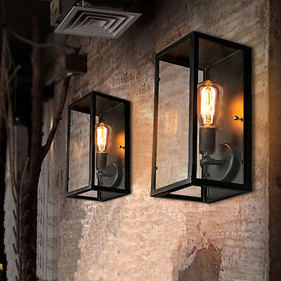 Vintage wrought iron wall lamp creative personality bar restaurant aisle lights