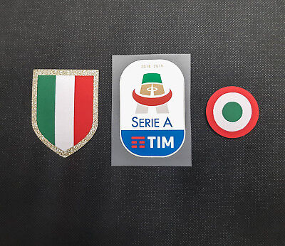 Juventus Fan Set 2018 / 2019 Badge Logo Toppa Turin Juve Tim Serie A Patch