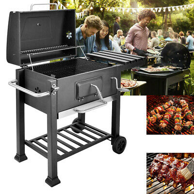 UK Barbecue BBQ Outdoor Charcoal Smoker Portable Grill Garden Party 117x53x100cm