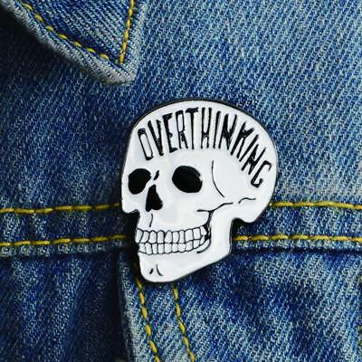 Best Punk Style Skull Brooch Characteristic Funny Hat Backpack Pin Jewelry HF