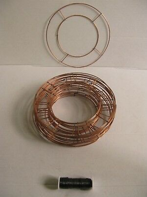 "8"" &10"" Flat Wire Wreath Making Ring Frames For Holly Christmas Xmas Craft"