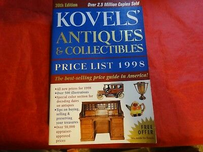Kovels' Antiques and Collectibles Price List 1998 by Ralph M. Kovel and Terry PB