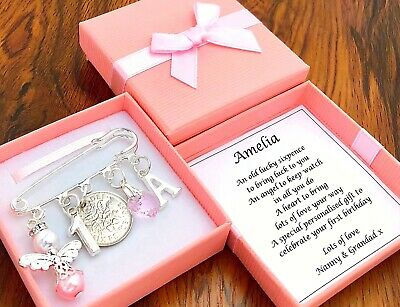 LUCKY SIXPENCE FIRST 1ST BIRTHDAY Gift BOY GIRL PERSONALISED INITIAL GIFT BOX