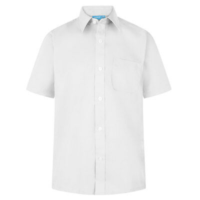Zeco Boys Short Sleeve School Uniform Wear Shirt. Size 11-14.5'' White