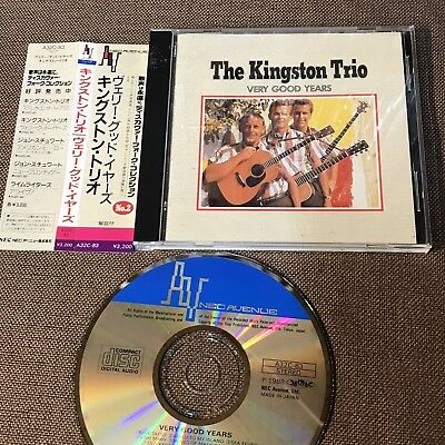 THE KINGSTON TRIO Very Good Years JAPAN CD A32C-83 w/OBI+PS BOOKLET Free S&H/P&P