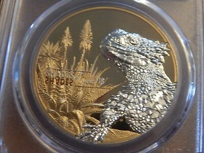 2018 1 oz $1 Cook Islands Shades of Nature – Lizard 1st Day of Issue PCGS PR69