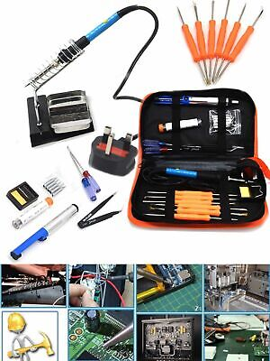 Solder 21 Pieces Set Soldering Iron Kit 60w 220V Best for Small Electric Work UK