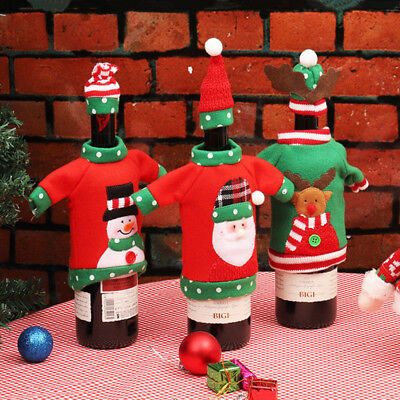 Gifts Dinner Table Bottle Cover Unisex Sweater Red Wine Bags Office Products