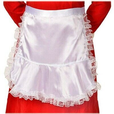 Halco Mrs. Claus Colonial Long, Satin Apron Adult Teen