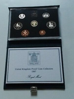 1987 UK Proof 7 Coin Set
