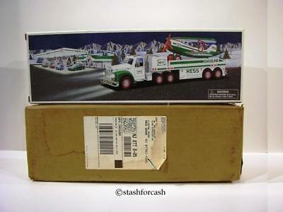 2002 Hess Truck & Airplane Helicopter With Rare Shipping Carton