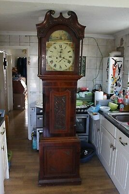 8 Day Longcase (grandfather) Clock By Helliwell, Leeds. Circa 1823. WORKING.