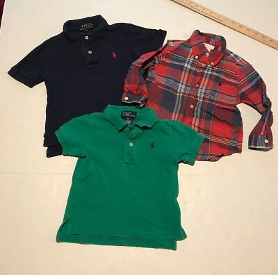 Ralph Lauren Infant And Toddler Boys Shirts Lot Of 3 See Details For Sizes